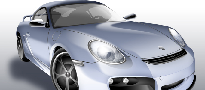 3D Digital Rendering for a Porsche