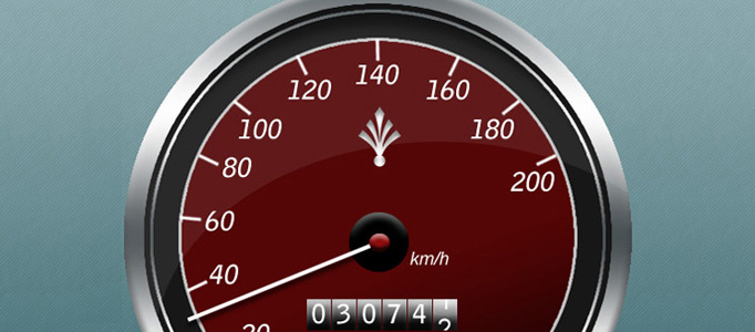 Create a Fantastic Speed Gauge and Watch Icon
