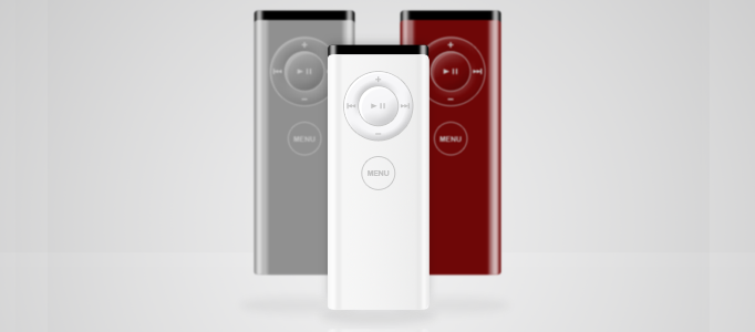 Design a Shiny Photorealistic Apple Remote