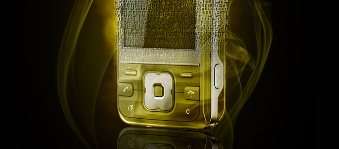 Impressive Fragmented Golden Phone