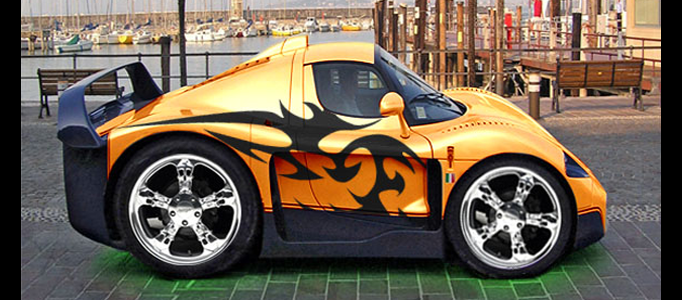 Minimize, colorize and bodypaint a Supercar