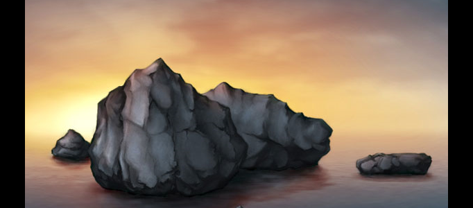 Painting a rock