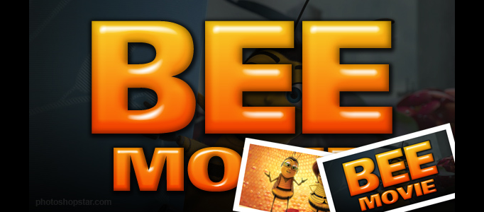 Recreate the 'Bee Movie' Text Effect