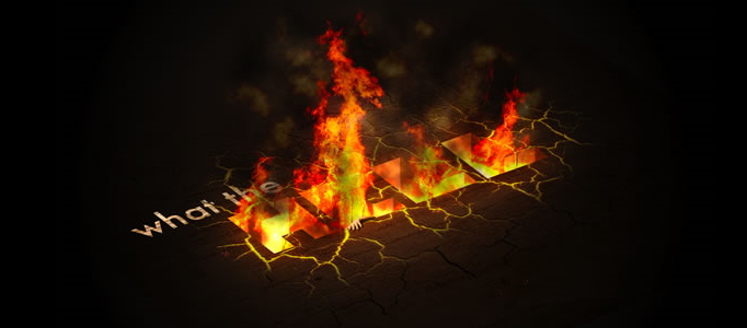 Text Effect – Fire Hell in Photoshop
