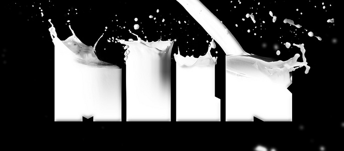 Amazing Milk Typography Effect in Photoshop