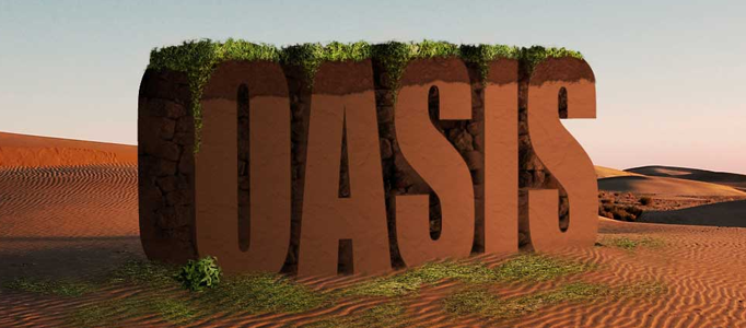 Create a Super 3D Text Scene with Desert Background