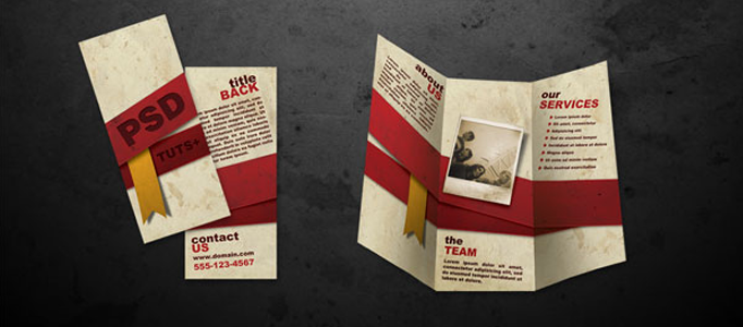 Design a Proper Folded Brochure in Photoshop