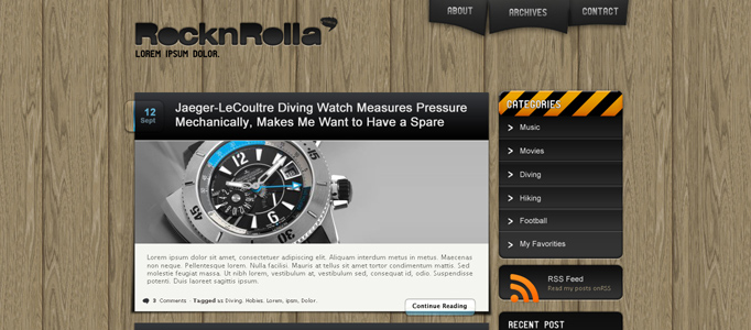 Amazing RocknRolla Web Design