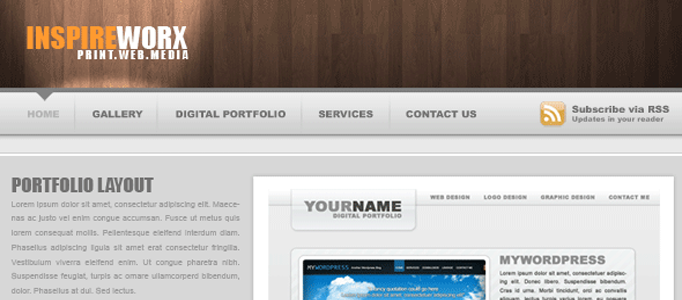 Awesome Wooden Texture Web Design Layout