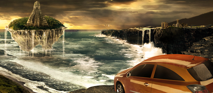 Create a Fantastic Natural Scene for an Awesome Car