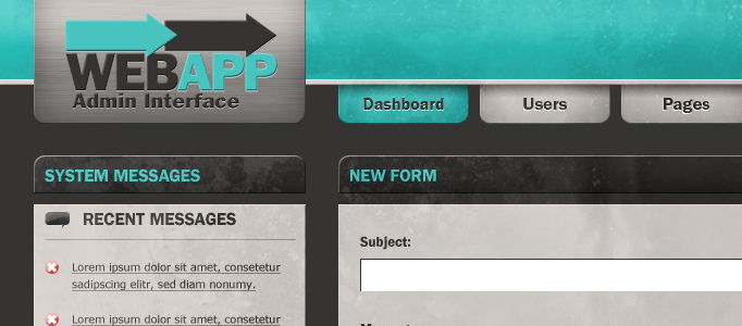 Create a Web App Admin User Interface in Photoshop