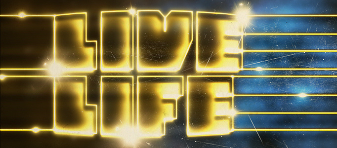 Dramatic Laser Text Style in Photoshop