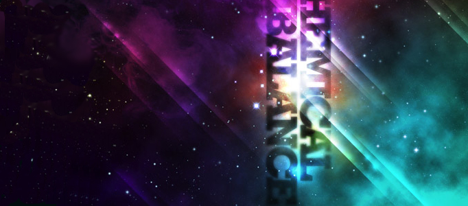 Create a Galactic Abstract Lighting Effect for Texts