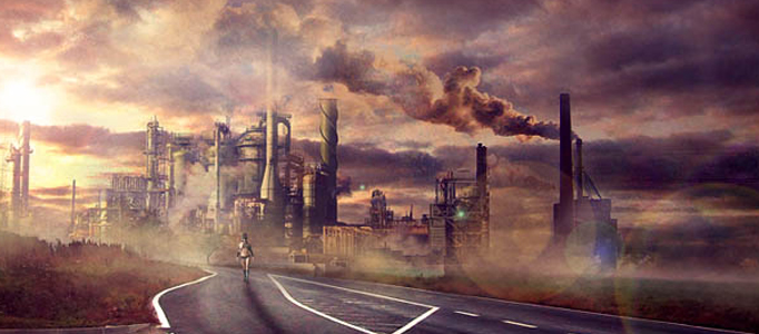 Create an Extraordinary Industrial City in Photoshop Tutorial