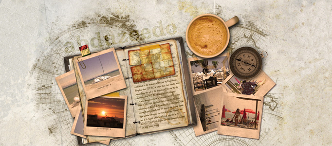 Create an Old Fashion Traveling Diary in Photoshop