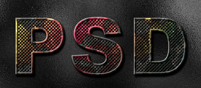Create Corroded Metal Text Effect in Photoshop