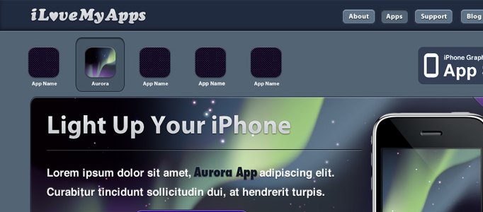 Design an Excellent iphone Web Layout in Photoshop