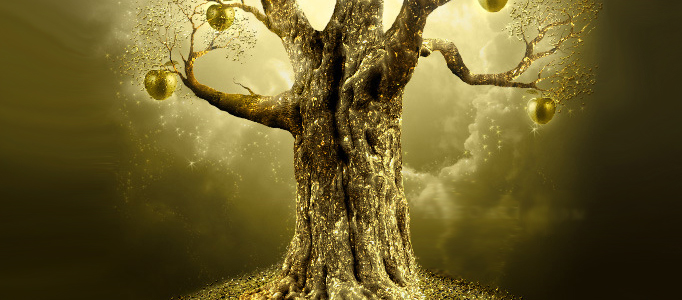 Create an Imaginative Golden Apple Tree in Photoshop