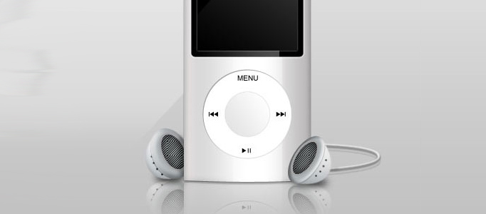 How to Create a Realistically 3D iPod using Photoshop