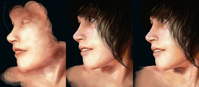 Painting a Realistic Portrait by Photoshop Brushes