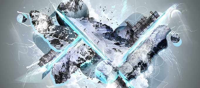Amazing Abstract Icy Creation