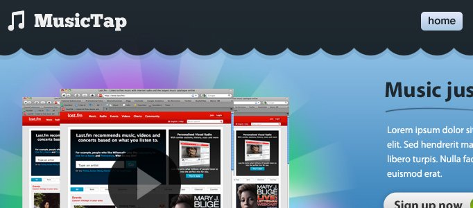 Create an Elegant Music Web Layout