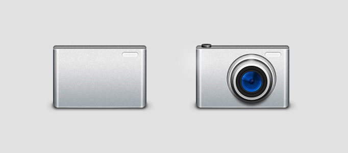 Digital Camera Icon in Photoshop
