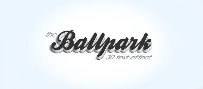 Design a Refined 3D Text Effect