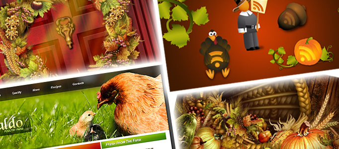 50 Thanksgiving Tutorials, Templates, Illustration and Icons