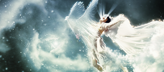 Impressive Scenery Creation – Soul Flying out of an Angel