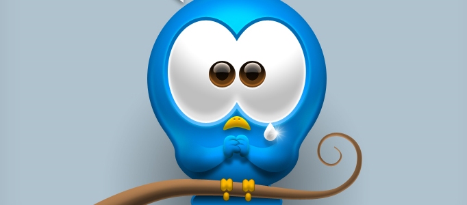 Design a Pretty Little Blue Bird Icon