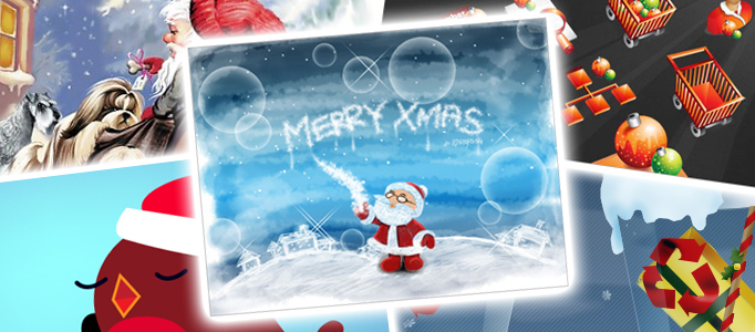 50 Amazing Christmas Tutorials, Templates & Icons