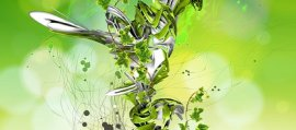 Surrealistic Design Effect for a Green Plant