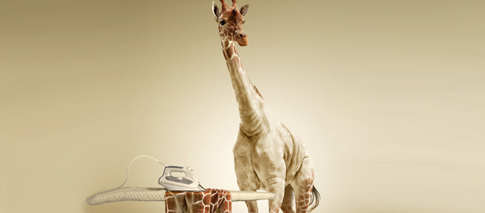 Amazing Scenery Creation – Ironing the Giraffe's Skin