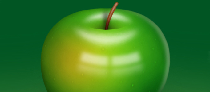 Create a Realistic 3D Green Apple