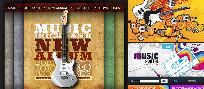 Amazing Music Web Designs, Templates and Illustrations