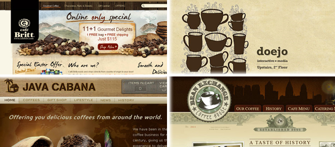 Showcase of Stunning Coffe Web Design