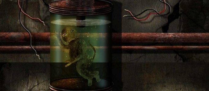 Create an Lizard Immersed in a Liquid Scene
