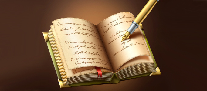 Design a Fancy Book Writing Icon