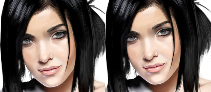 Painting a Proper Beautiful Model in Photoshop