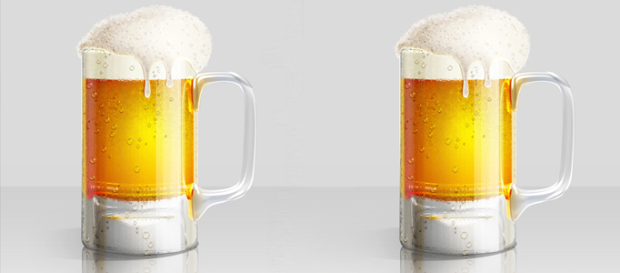 Create a Realistic Glass of Beer