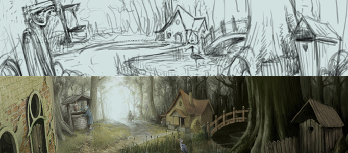 Advance Painting Skills for a Cartoon Village