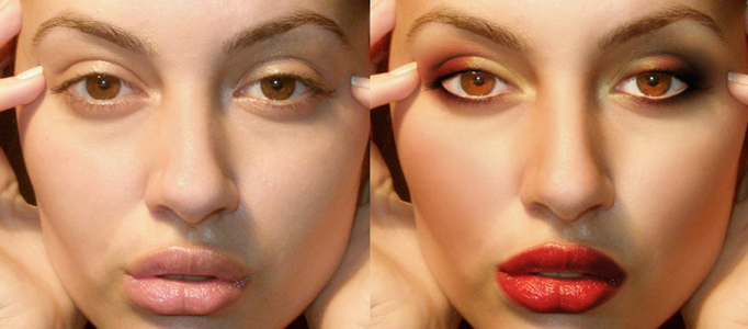 Adding a Proper Make-up using Photoshop
