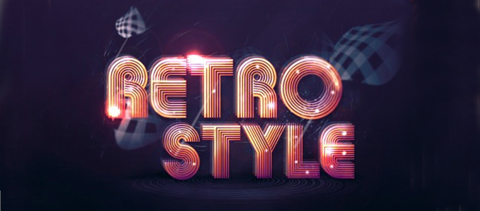 Create a Lighting Retro Text Effect