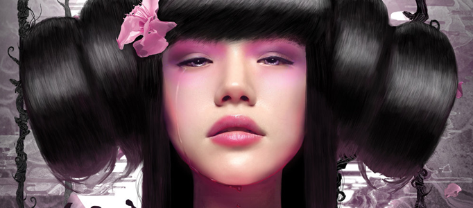 Create a Nice Lady Portrait in Japanese Style