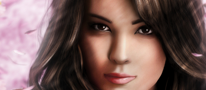 Realistic Painting a Pretty Lady Portrait
