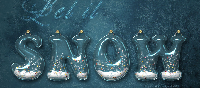 Making of 3D Snowing Typography