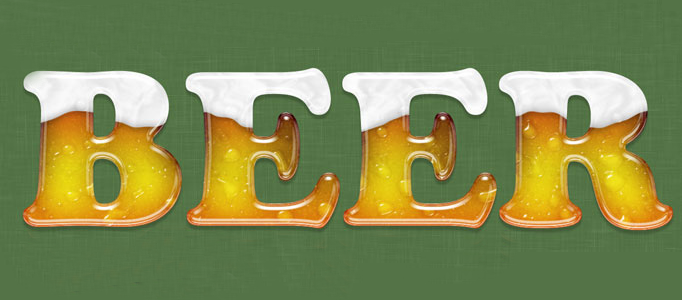 Icy Beer Text Effect Creation