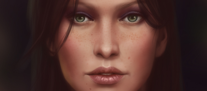 Making of a Nice Lady Portrait in Photoshop