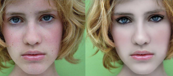 Useful Make-up for a Lady in Photoshop